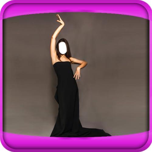 Frauen langes Kleid-Foto-Montage