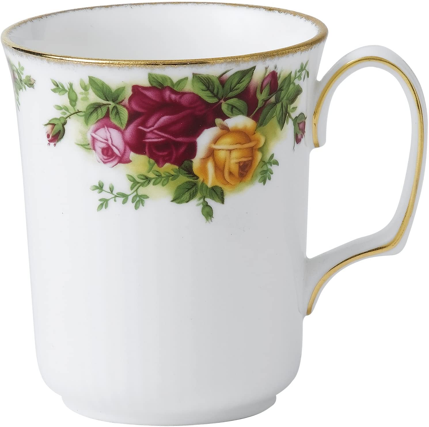 Royal Doulton Old Country Rose Montrose Mug Mostly White With Multicolored Floral Print Home Kitchen