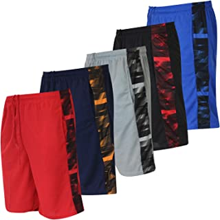 Boys' 5-Pack Mesh Active Athletic Performance Basketball...