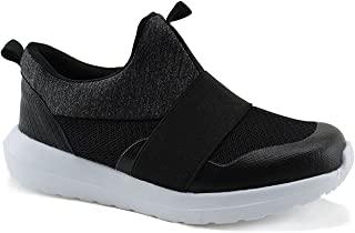 Jabasic Kids Athletic Running Shoes Boys Girls Comfortable Slip on Sneakers