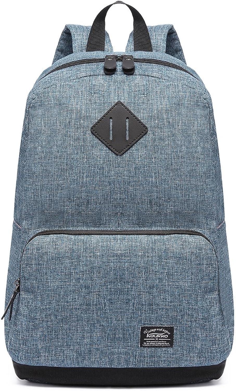 KAUKKO Stylish Canvas Backpack Travel Hiking Lightweight Bookbag Backpacks (bluee 051)
