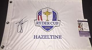 Zach Johnson Autographed Signed 2016 Ryder Cup Flag JSA COA