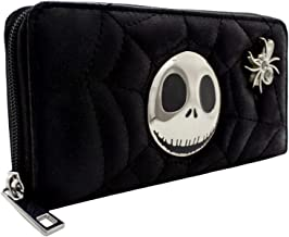 Nightmare Before Christmas Quilted Web Black Coin & Card Clutch Purse