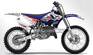 Kungfu Graphics Custom Decal Kit for Yamaha YZ125 YZ 125 YZ250 YZ 250 2002 2003 2004 2005, White Blue Red