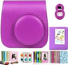 CAIUL Compatible Mini Camera Case Bundle with Album  Filters Other Accessories for Fujifilm Instax Mini  Grape Purple  Items