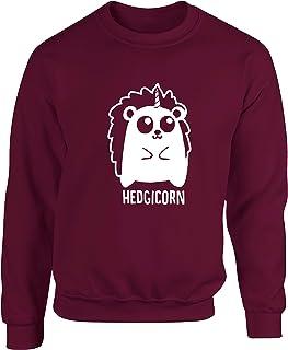 Hippowarehouse Hedgicorn - Hedgehog Unicorn Unisex Jumper Sweatshirt Pullover (Specific Size Guide in Description)