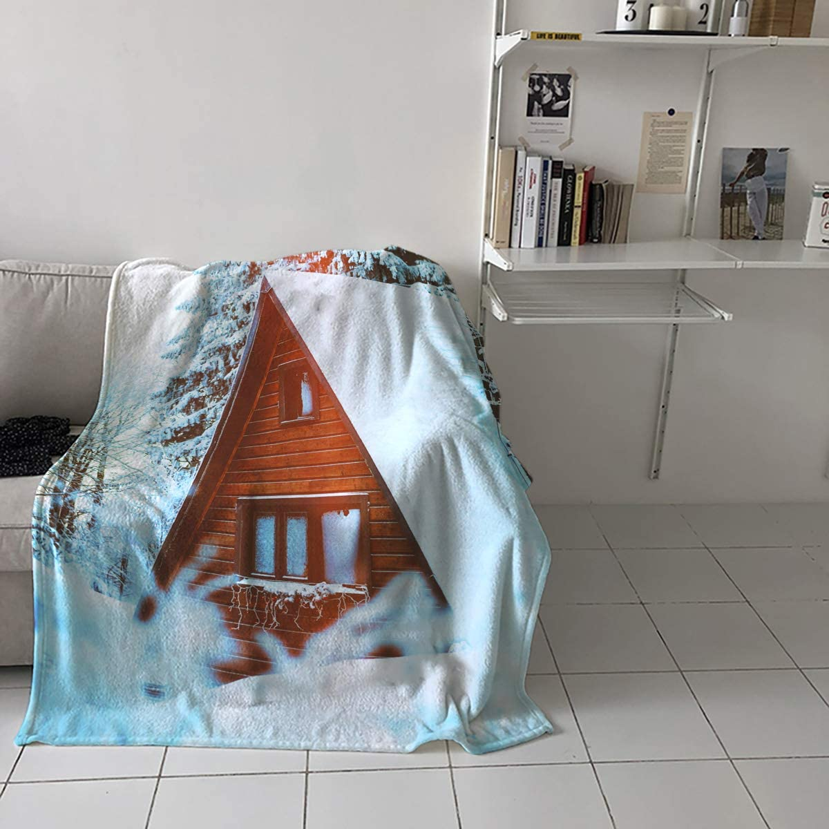 Teamery latest 50x60in Throw Blanket for Adults Scen Winter Snow Kids - Industry No. 1