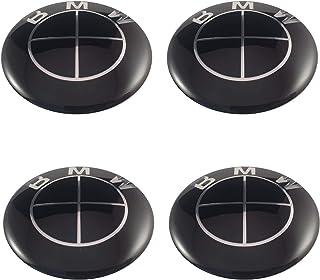 LUDOSTREET ref0010 (X4) Logo Embleem Badge Anagram Velg Wiel Auto Compatibel met BMW 68mm 10 Pins (Zwart)