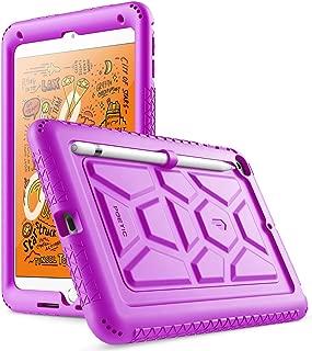 iPad Mini 5 Case, Poetic TurtleSkin Series [Corner/Bumper Protection][Bottom Air Vents] Protective Silicone Case for Apple iPad Mini 5 (2019 Release) - Purple