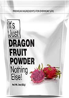 It's Just - Dragon Fruit Powder, Pink Pitaya, Purple Dragonfruit, Freeze Dried, Natural Food Colorant, 3oz