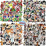 Paquete de Pegatinas Geniales de 200 piezas, Pegatinas de Super Mario /Haikyuu/Attack on Titan/My Hero Academia para Niños, Pegatinas de Anime para Adolescentes para Monopatín,Portátil, Automóvil