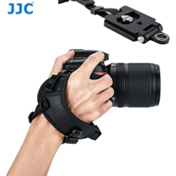 JJC HS-PRO1M Pro Hand Grip Strap for DSLR, W QR Arca Type Plate, Camera Hand Strap for Canon 5D II III ID 6D II 7D II 80D Nikon D850 D810 D800 D750 D700 D5 D4s D4 D7500 D3500 Sony a99 II a77 II a58