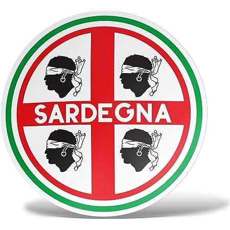 Erreinge Aufkleber X2 Sardinien Italien Shaped Adhesive Pvc Für Abziehbild Tapete Auto Moto Helm Camper Laptop 10 Cm Auto