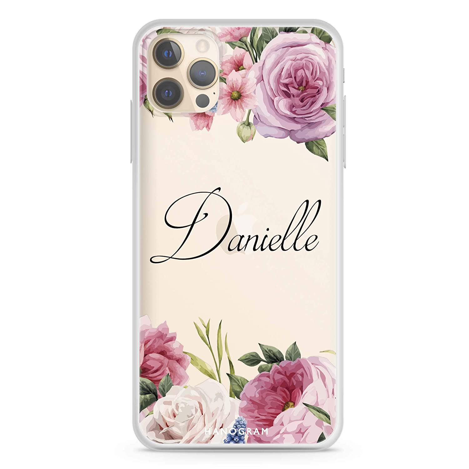 Fashion Light Pink Floral iPhone 12 Soft Case Pro Max New item Clear