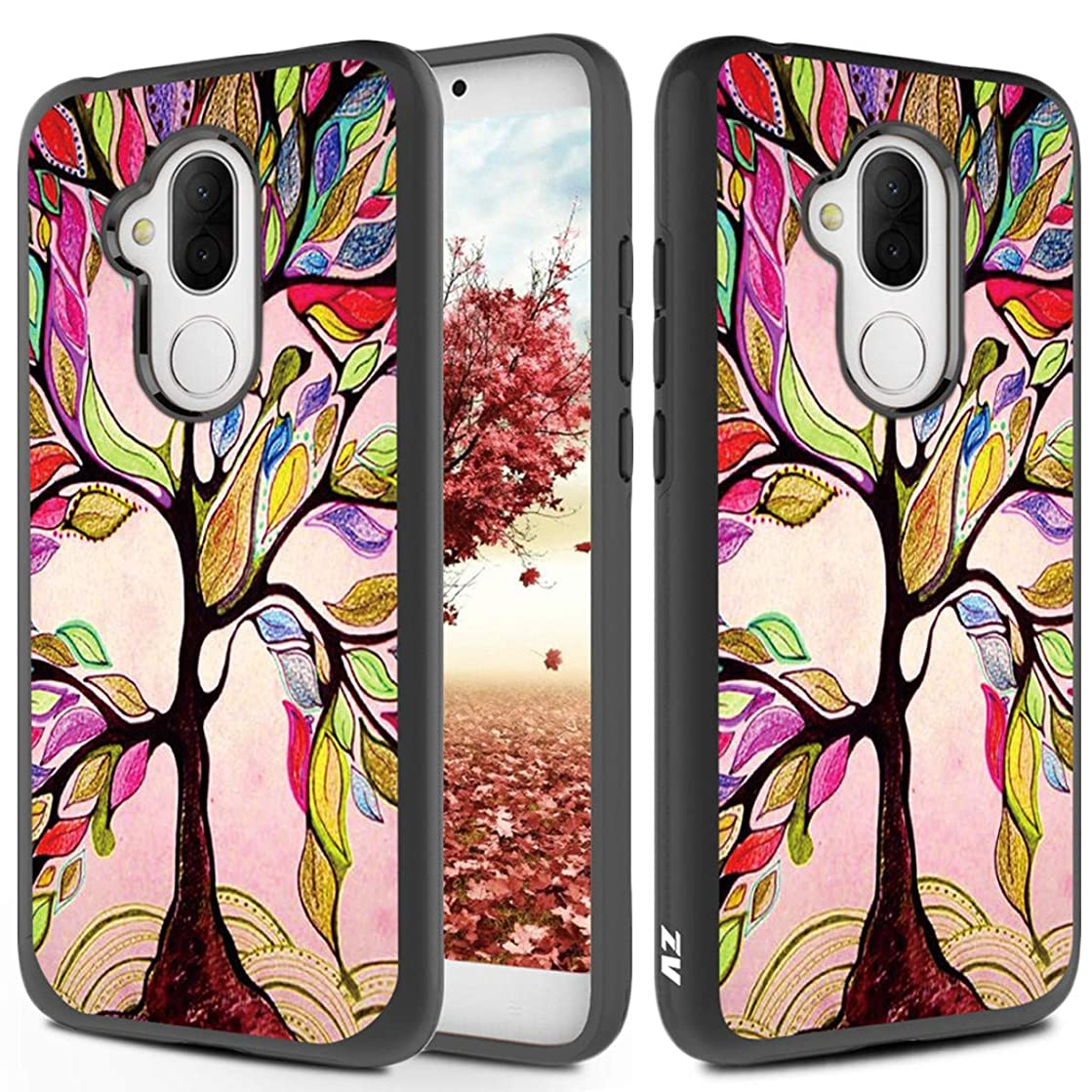 Phonelicious Alcatel 7 Case, Tmobile Revvl 2 Plus Phone Cover Dual Layer Slim Hybrid Rugged Protective with Screen Protector and Stylus Compatible 6062w (Tree of Life)