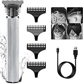 SURKER Electric Hair Trimmer Clippers Barber Mens Hair Beard Shaver Grooming Waterproof Rechargeable Cordless Close Cuttin...