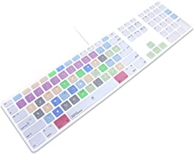 HRH for Apple iMac G6 MB110LL/B and MB110LL/A A1243 Keyboard with Numeric Keypad NumberPad Print with: Adobe Photoshop Functional Shortcuts Hot Keys Design Silicone Keyboard Skin Cover [US/EU Layout]