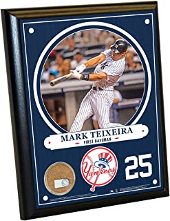Steiner Sports MLB New York Yankees Mark Teixeira Plaque with Game Used Dirt from Yankee Stadium, 8