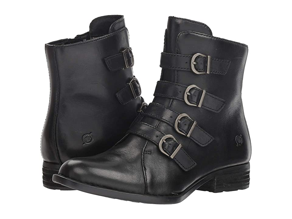 Steampunk Boots & Shoes, Heels & Flats Born Cardi Black Full Grain Womens Pull-on Boots $165.00 AT vintagedancer.com
