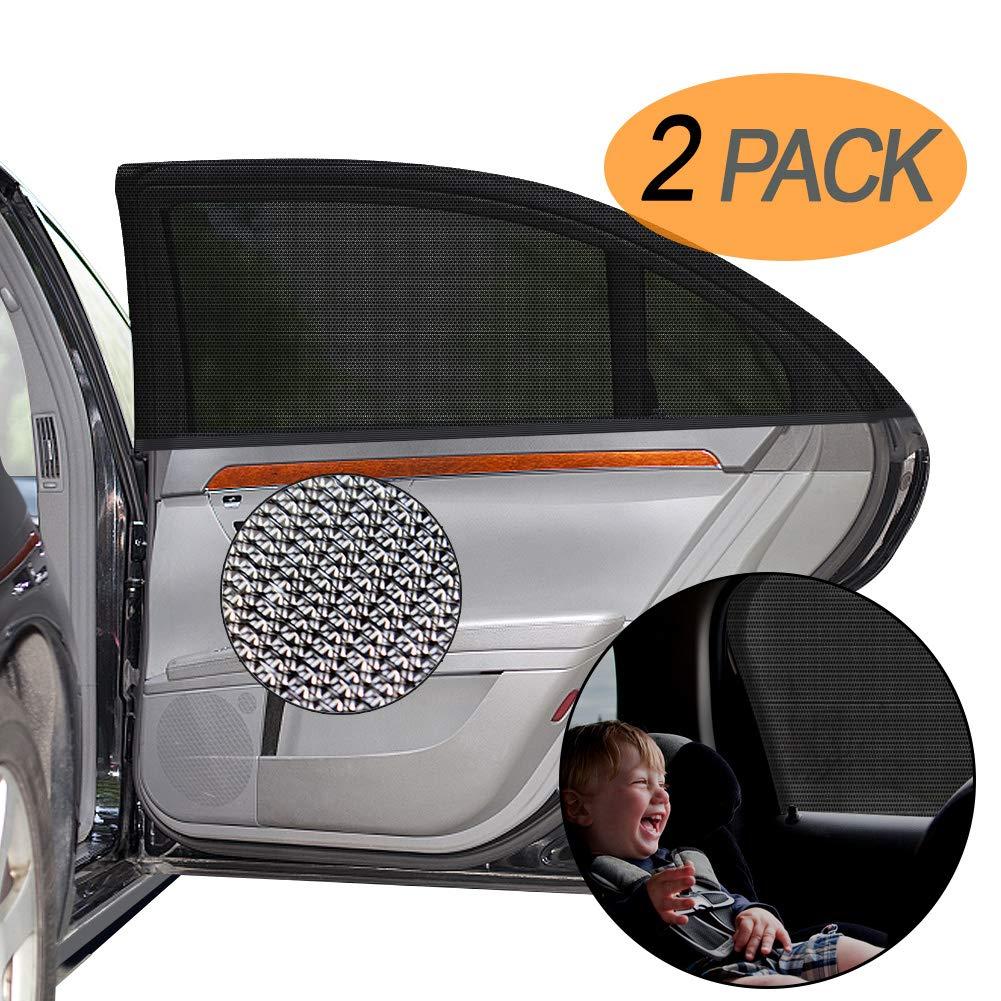 5 Pack Car Sun Shade for Windows UV-Blocking Full Sun Protection Baby Car Side Window Sun Shades 4 Pack 17.32x14.17 /& 1 Pack 39.37x19.68 GLOBAL GOLDEN Car Window Shades