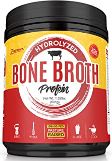 Hydrolyzed Bone Broth Protein Powder - Grass Fed, Pasture Raised | Non-GMO, Paleo Friendly, Gluten Free - 601 Grams-Great ...