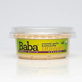 Sponsored Ad - Baba Small Batch Organic Hummus (8 oz) - USDA Organic, Gluten Free, Vegan, Non-GMO, Cholesterol Free, Zero ...