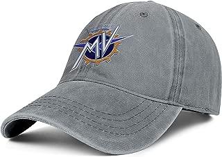 Men's Womens Trucker Hats All Cotton MV-Agusta-Logo- Snapback Fit Denim Cap