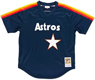 Mitchell & Ness 562141188NRYAN Men Houston Astros Nolan Ryan Nostalgia Navy #34