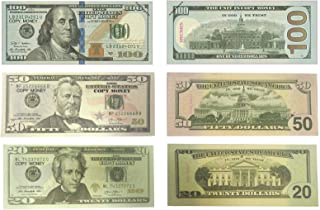 Lefree  Money Copy Money 20,50,100 Dollar Prop Money Realistic Double Sided Money Stack 120 Bills Full Print  Dollars