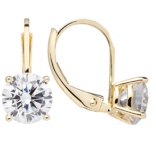 14K Solid White or Yellow Gold Earrings  110c0c60a
