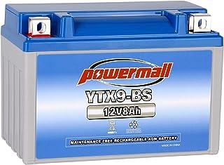 باتری Weize YTX9-BS تعمیر و نگهداری باتری رایگان برای موتور سیکلت ATV هوندا TRX 400EX Sportrax Fourtrax GSXR600 LTZ250 ZX600 ، Polaris Predator 500 ، سوزوکی GSX-R600 YTX9 ETX9 BS باتری