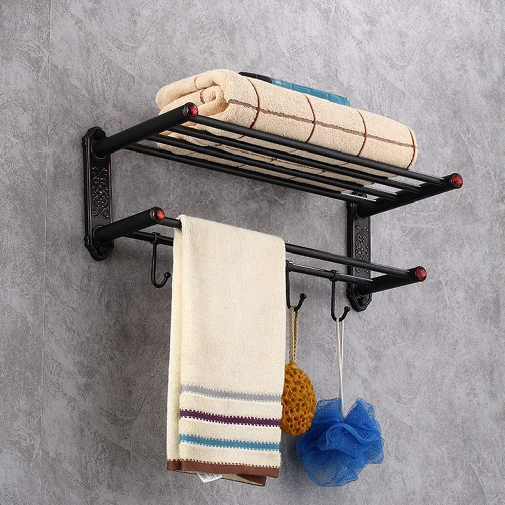 JYMBK Super intense SALE Bathroom Max 44% OFF Rack Shelf Antique Copper Tow Towel
