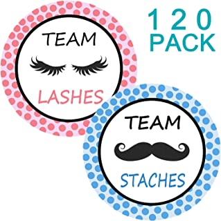 Gender Reveal Party Labels Baby Shower Voting Stickers - Stickers Gender Reveal Party Supplies Decorations - 120 Pack 2.36 Inches