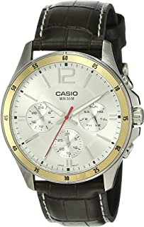 Casio MTP-1374L-7AVDF Enticer for Men - Casual, Leather Band Watch -, Analog