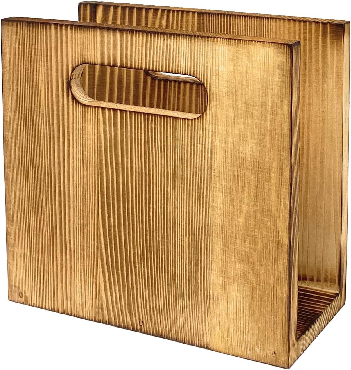 Wood Napkin overseas Holder for Inexpensive Farmhouse Coun Decoration Rustic Kitchen