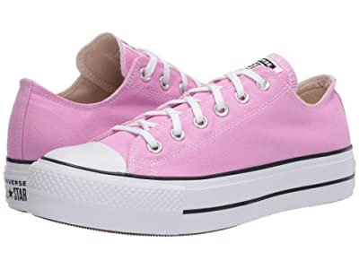Converse Chuck Taylor All Star Lift Seasonal Ox (Peony Pink/White/Black) Women