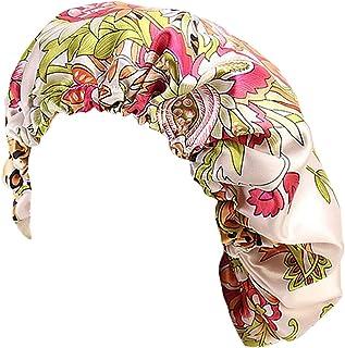 Antjoint Chemo Cancer Sleep Cap Hat Satin Turban Headwear Beanie Headwrap Bonnet Hair Cover Headscarf