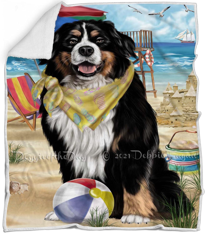 Max 88% OFF Pet Friendly Beach Japan's largest assortment Bernese Mountain Flu Dog - Blanket Multicolor