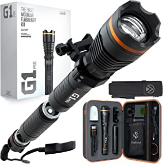 DanForce G1 pro rechargeable Flashlight –worldwide patent, most founded flash lights on Kickstarter, 1080 high power lumens, with Holster, Weapon Mount, Remote Switch.7 different configurations.