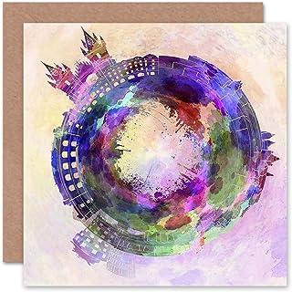 Card Greeting Little World City Skyline Prague Czech Republic Gift