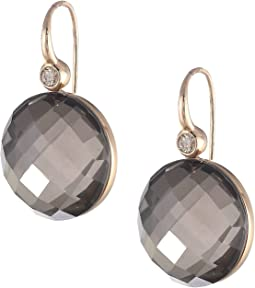 Doublet Rock Crystal/Brown Diamonds
