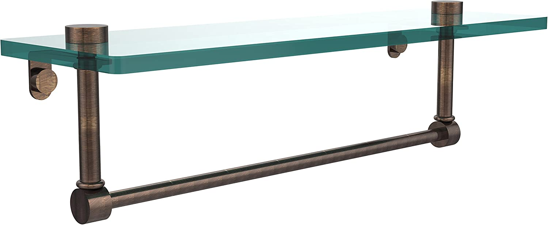 Allied Brass NS-1 16TB-VB 16-Inch by 5-Inch Glass Shelf with Towel Bar