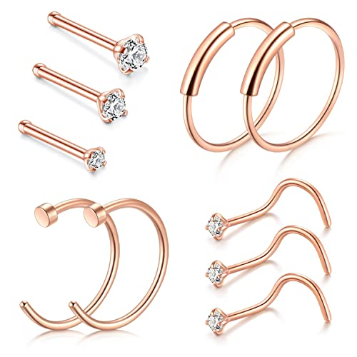 Pack Of Nose Rings And Studs Amazoncom