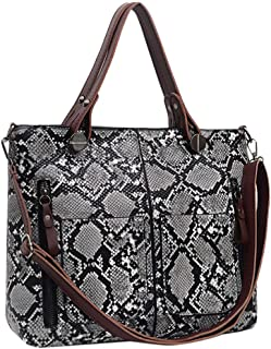 Fashion Women's Leather Snake Shoulder Bag Messenger Bag Mobile Phone Bag