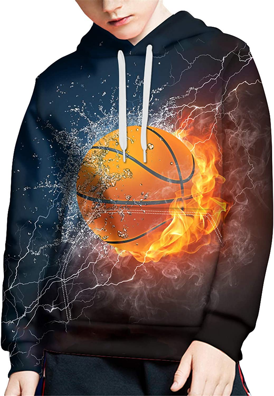 ZFRXIGN Hoodies with Strings Kids Pullover Sweatshirt for Boys Long Sleeve Machine Washable 6-16 Years