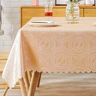 PVC Tablecloth Vinyl Oilcloth Picnic Wipeable Plastic Spillproof Peva Oil-Proof WaterproofTable Heavy Duty Western Small Square Card Tablecloths 4 ft 54x54 Inch
