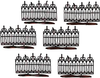 Department 56 Halloween Accessories for Village Collections Spooky Miniature Fence Figurine Set, 2 Inches, Black