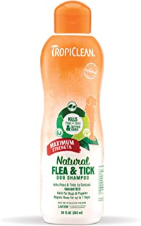TropiClean Natural Flea and Tick Shampoo For Dogs and Puppies, With Natural Maximun Strength Formula, Effectively Repels F...