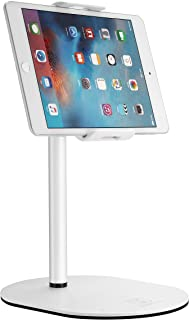 LUSQIK Table Tablet Stand Holder 360 Degree Rotating, Aluminum Alloy Cradle Mount Desk Dock Fit for 4-11 inch iPhone Samsung, iPad, Nintendo Switch, Kindle, eBook Reader