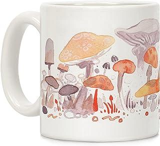e54c87ce49c Mushroom Garden Pattern White 11 Ounce Ceramic Coffee Mug by LookHUMAN